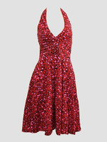 Front - Leopard red marilyn dress