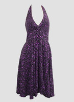 Front - Leopard purple marilyn dress