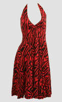 Front - Zebra red marilyn dress