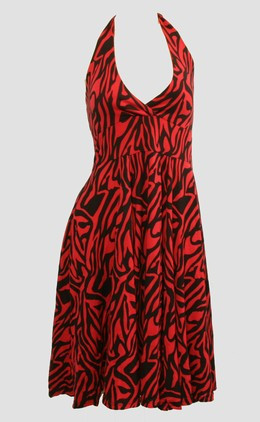 Front - Zebra red marilyn dress
