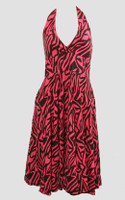 Front - Zebra pink marilyn dress
