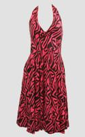 Front - Zebra pink marilyn dress
