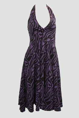 Zebra purple marilyn dress