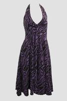 Zebra purple marilyn dress