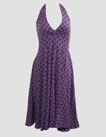 Dot L purple marilyn dress