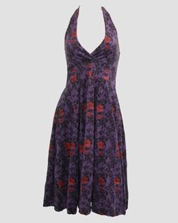Skull rose purple marilyn dress