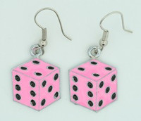 Dice PE pink mix pendant