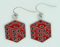 Dice PE red mix pendant