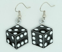 Dice PE black-white mix pendant