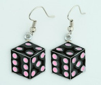 Dice PE black-pink mix pendant