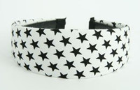 Star white-black large cotton