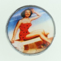 Pin up blue mix ring