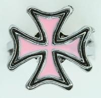 Herocross pink-black mix ring