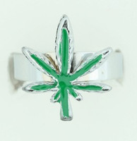 Marijuana D green mix ring