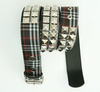 Scotch black belt studs belt