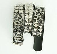 Leopard brown belt studs belt