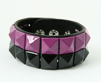 Stripe black-purple studs big stud