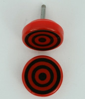 Circle red-black flat fake piercing
