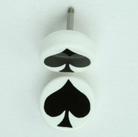 Ace of spades white flat fake piercing