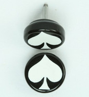 Ace of spades black-white flat fake piercing