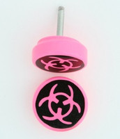 Bio pink flat fake piercing