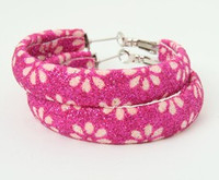 Flower pink creole ear ring