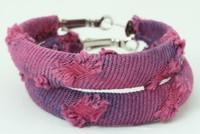 Jeans purple creole ear ring