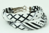 Mix black-white creole ear ring