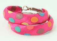 Dot color pink creole ear ring