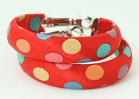 Dot color red creole ear ring