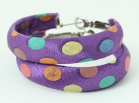 Dot color purple creole ear ring