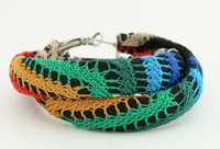 Knitted color creole ear ring