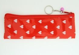 Heart red pencil bag Bag