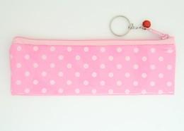 Dot pink pencil bag Bag