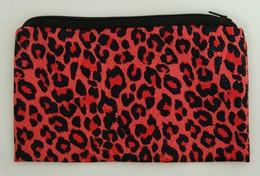 Leopard red P pencil bag bag