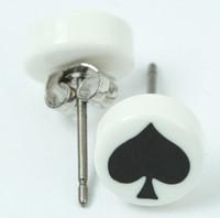 Ace white-black circular reference stud