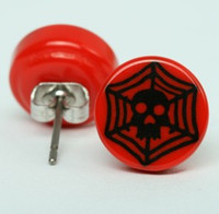 Spiderweb red circular reference stud