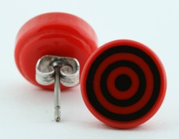 Circle red circular reference stud
