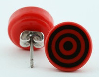 Circle red circular reference stud