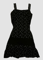 Star small black-white fashion dress