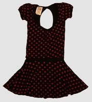 OIB 3D star black-red fashion dress
