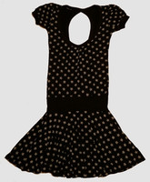 OIB 3D star black-white fashion dress