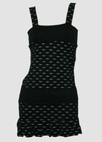 Bat black-grey fashion dress
