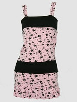 3 star pink-black fashion dress
