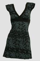 Front - Punk flower black-grey fashion dress