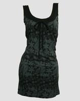 Front - Punk flower grey fashion dress