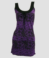 Punk flower purple fashion dress
