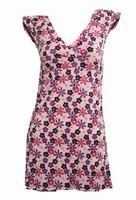 Front - Flower pink fashion dress