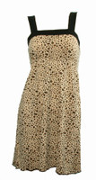 Front - TE leopard brown fashion dress