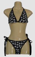 Spider black bikini lady
